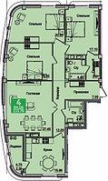 4 комнатная квартира в Олимпийский 133.78 м²