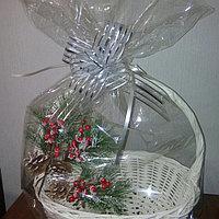 Прозрачный упаковочный пакет для оформления подарочной корзины, размер 40*55 см