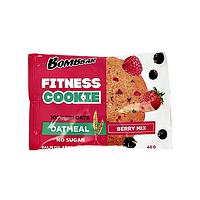 Овсяное фитнес печенье BombBar - Fitnes Cookie, 40 гр Ягодный микс, фото 1