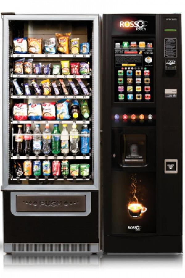 Современный торговый автомат с touch-экраном