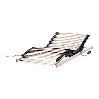 Реечное дно кровати регулируемое белый ЛАКСЕВОГ 90х200 ИКЕА, IKEA, фото 1