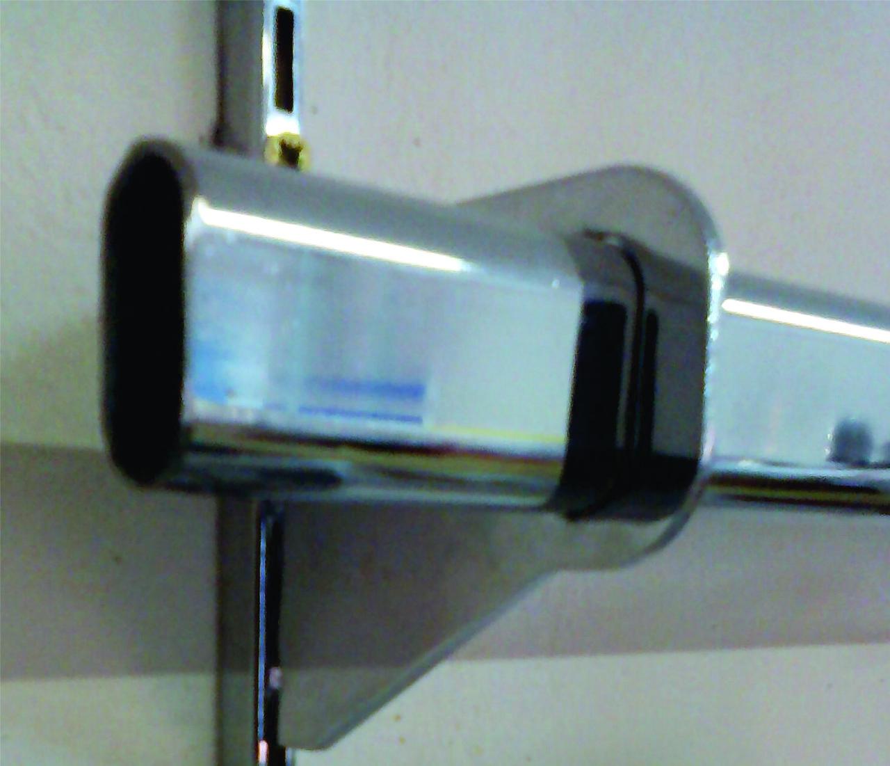Торговое оборудование - полкодержатель для овальной трубы  на Vertikal 70мм