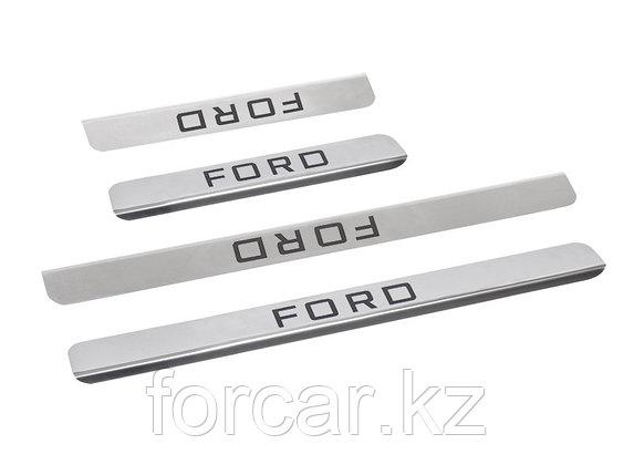 Накладки внутренних порогов FORD Focus2, Focus3, Mondeo, фото 2