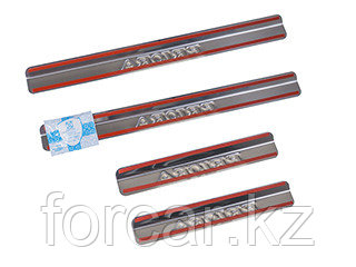 Накладки внутренних порогов ВАЗ-2170, 21104, 21124 (к-т 4 шт.), фото 2