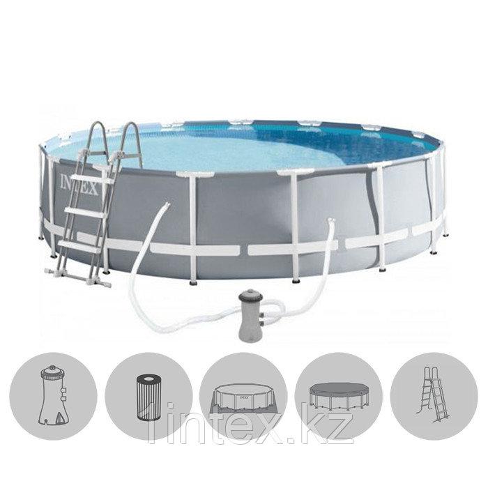 Сборный каркасный бассейн Intex Prism Frame 427*107 см