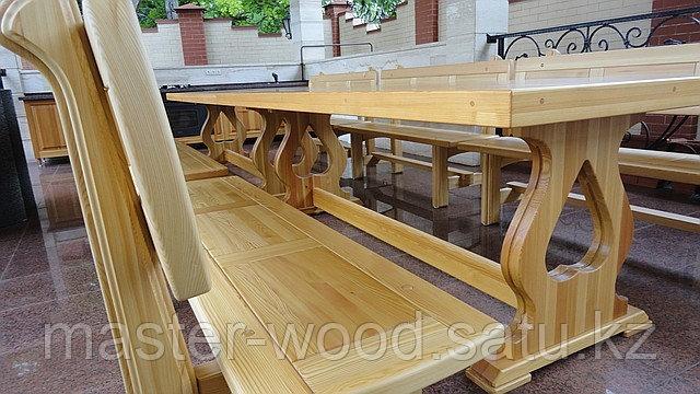 Изготовление садовой деревянной мебели: Беседки, навесы, топчаны, скамейки, лавочки, мостики, столики. - фото 2