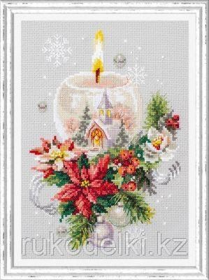 """Набор для вышивания крестом """"Рождественская свеча"""""""