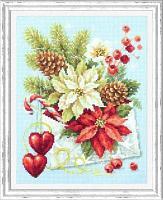 """Набор для вышивания крестом """"С рождеством!"""""""