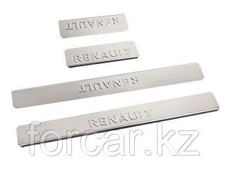 Накладки внутренних порогов RENAULT Duster (к-т 4 шт.)