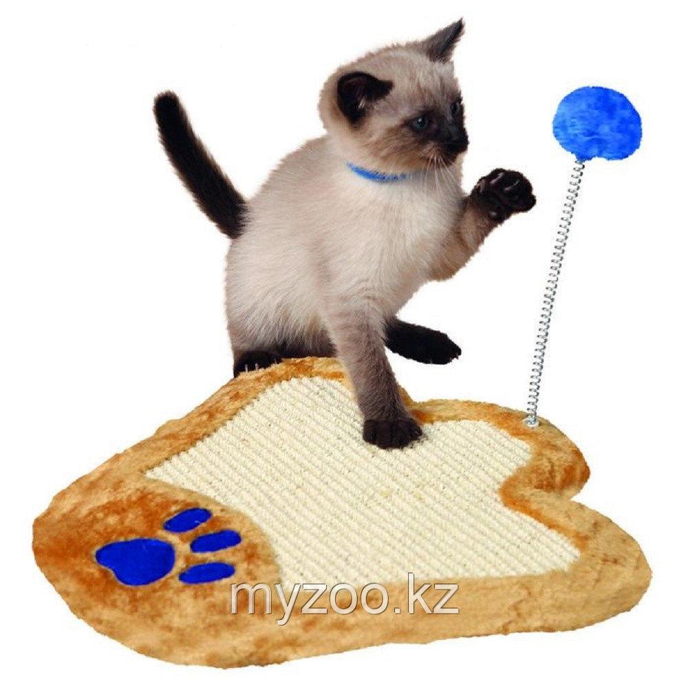 Когтеточка для кошек, с игрушкой на пружине,36 × 34 cm,