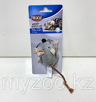 Игрушка для кошек, мышка, сделана из высококачественного плюша с сизалем. Пропитана кошачьей мятой. Р-р игрушк