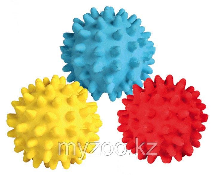 Игрушка для кошек, виниловый игольчатый мячик, разные цвета. ø 3 cm.