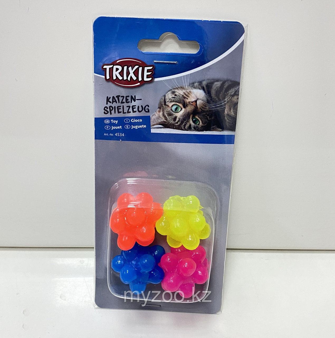 Мячики резиновые для игры с кошками. Упаковка блистер. Диам 3,5 см. Цена за 4 шт