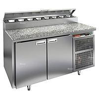 Стол холодильный для пиццы Hicold PZ2-11/GN (8xGN1/6) камень