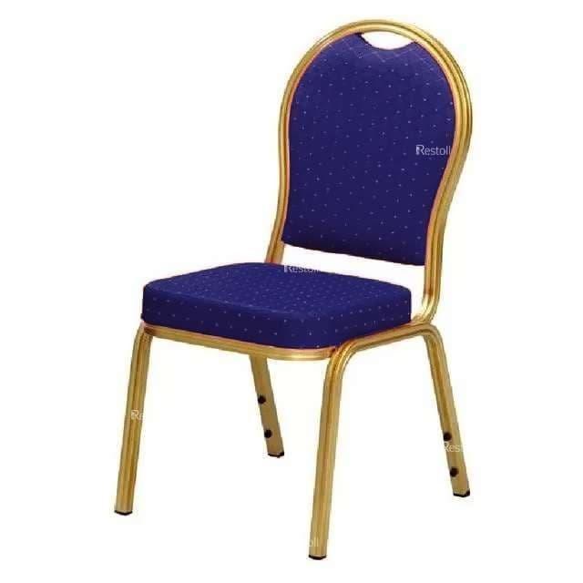Стул банкетный IFDG DN-020 золото/ткань синяя