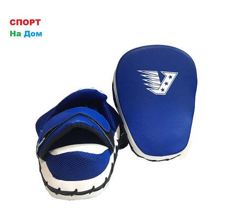 Лапы для бокса, каратэ, таэквондо Velo кожа (цвет синий), фото 2