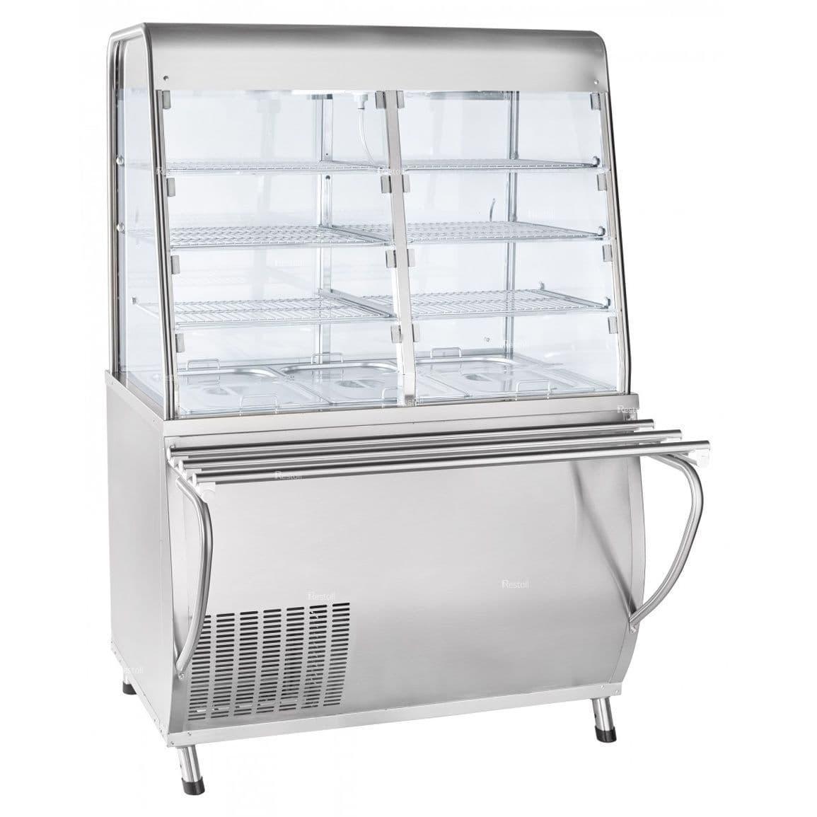 Прилавок-витрина холодильный ABAT «Премьер» ПВВ(Н)-70Т-С-НШ