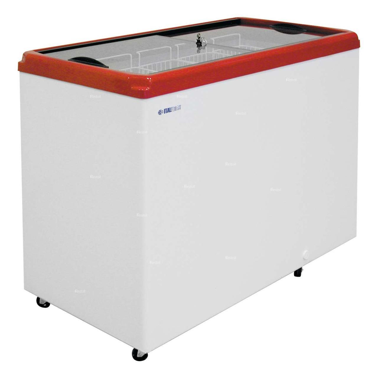 Ларь морозильный Italfrost CF400F (ЛВН 400 П) красный