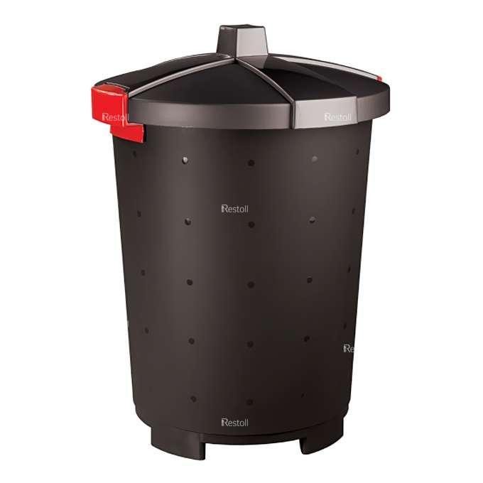 Бак для сбора отходов Restola 65 л, чёрный - 5 шт/уп