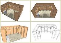 Составление дизайн-проекта коммерческих помещений для торговли, жилой мебели