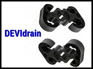 Пластиковые крепления кабеля в водосточных трубах DEVIdrain