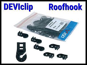 Крепление кабеля на металлической кровле Deviclip Roofhook
