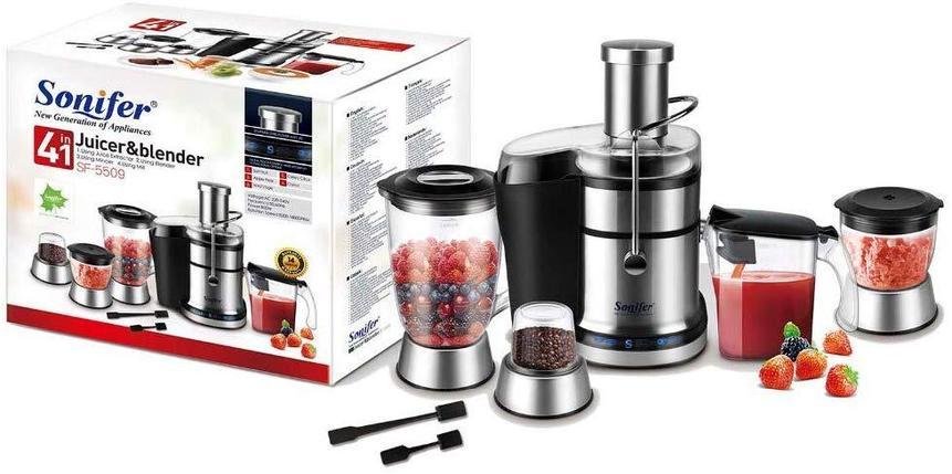 Многофункциональный кухонный комбайн Sonifer SF-5509 блендер и соковыжималка, фото 2