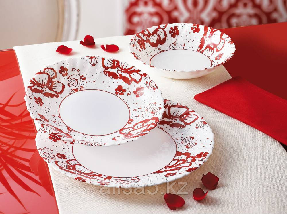 ALCOVE RED сервиз столовый 19 предметов