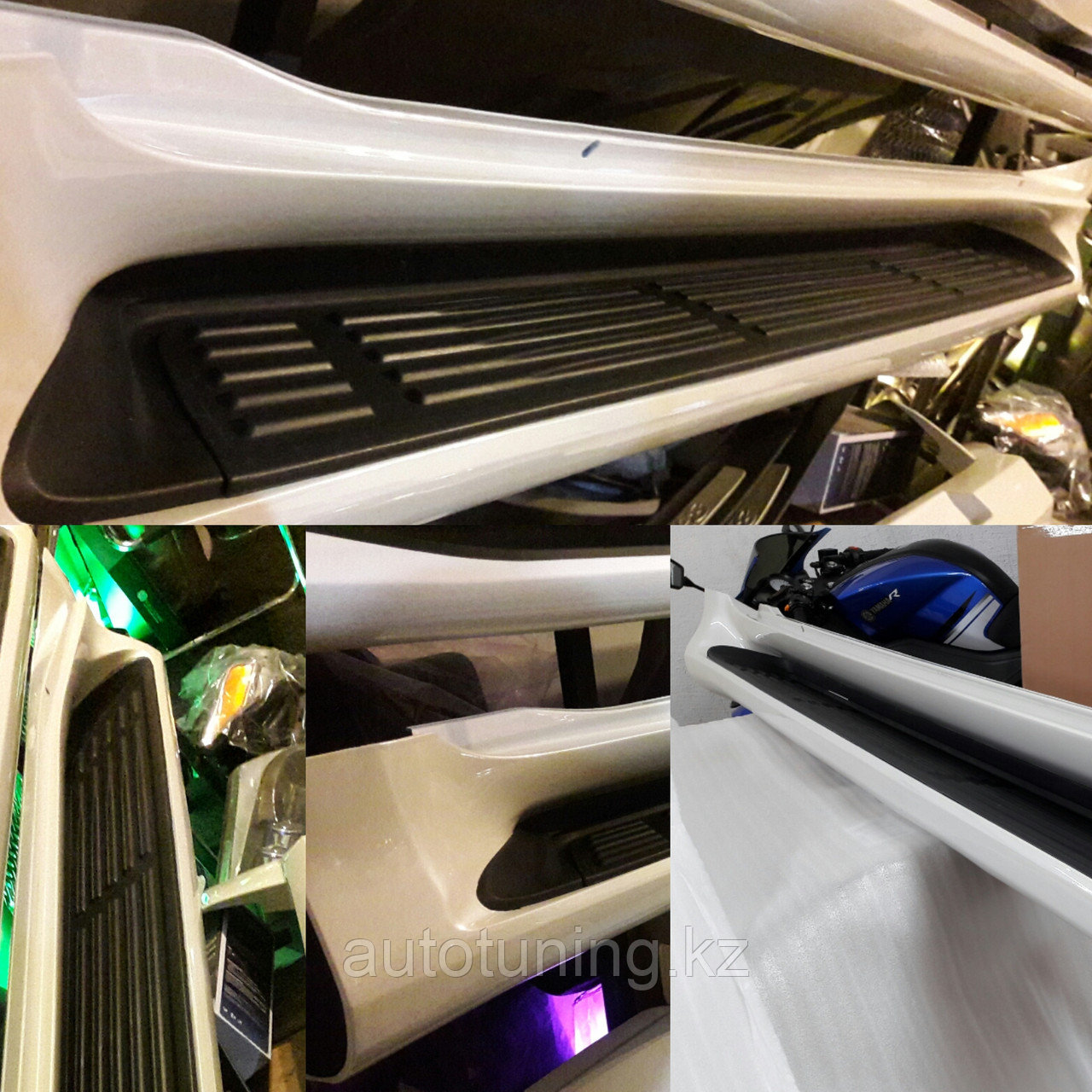 Подножки (пороги) на Toyota Land Cruiser Prado 150 2009-2020 г.в. в стиле LEXUS GX