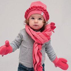 детские комплекты шарф-шапка-перчатки