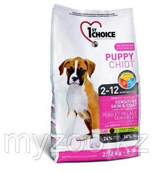 1st Choice Puppy Sensitive Skin and Coat (Фест Чойс) корм для здоровья кожи и шерсти щенков 6кг