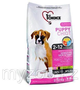 1st Choice Puppy Sensitive Skin and Coat (Фест Чойс) корм для здоровья кожи и шерсти щенков 14кг
