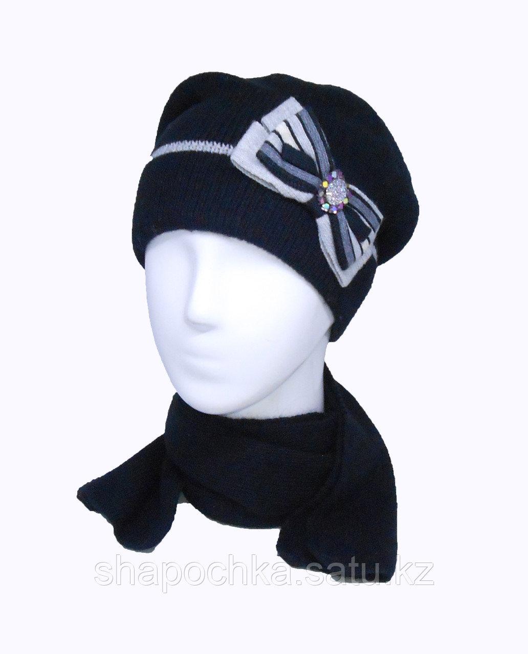 Шапка+шарф Landre Маргарита конверт бант