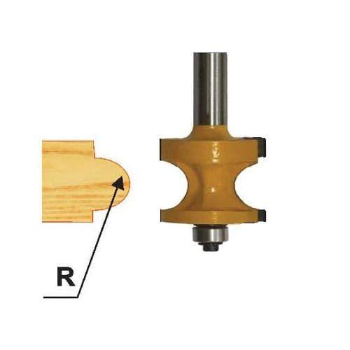 Фреза кромочня радиусная с подшипником Глобус D=28,l=47,d=8mm арт.1013 H47
