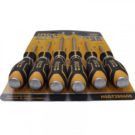 Набор ударных отверток 6 шт. INGCO HSGT280608, фото 2