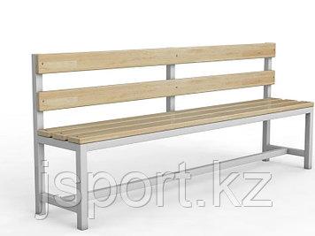 Скамейка для раздевалки со спинкой