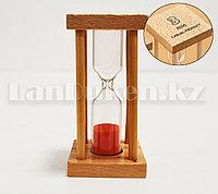 Песочные часы 3 минуты настольные деревянные песочные часы 3 min (розовый песок)