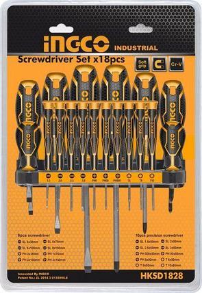 Универсальный набор отверток INGCO HKSD1828, 18 шт, фото 2