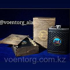 Фляжка лётчики СВО в деревянной коробке