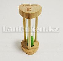 Песочные часы 3 минуты настольные деревянные песочные часы 3 min (зеленый песок)