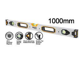 Уровень строительный, INGCO HSL38100M INDUSTRIAL, магнитный 100 см