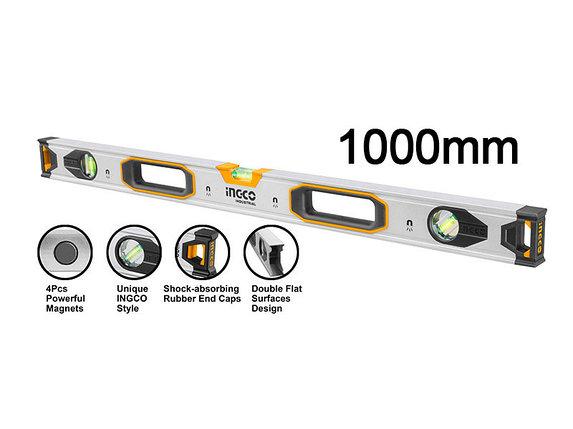 Уровень строительный, INGCO HSL38100M INDUSTRIAL, магнитный 100 см, фото 2