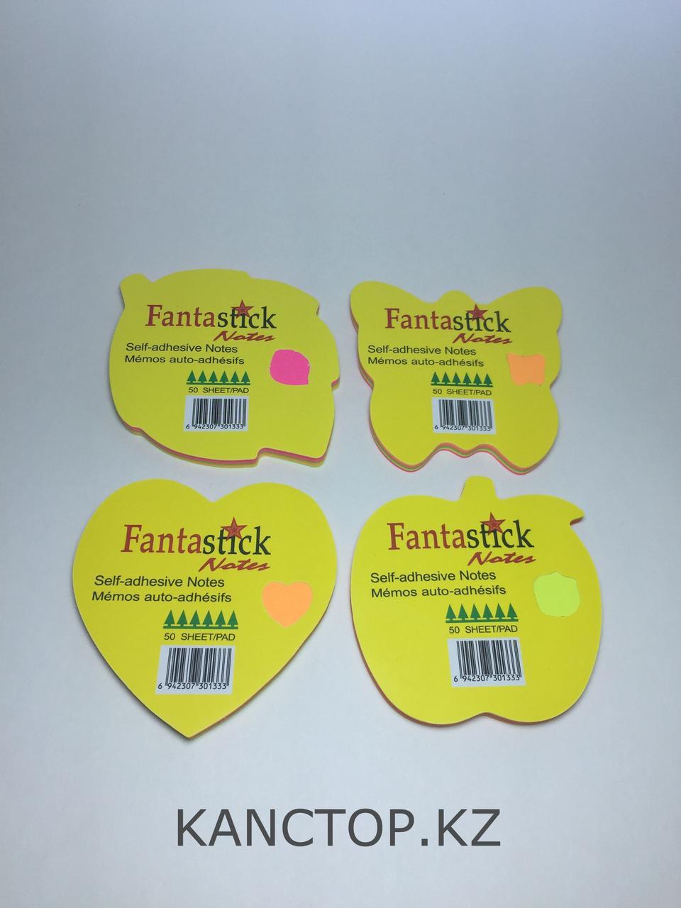 Бумага клейкая для заметок FANTASTICK фигурные, 50 листов