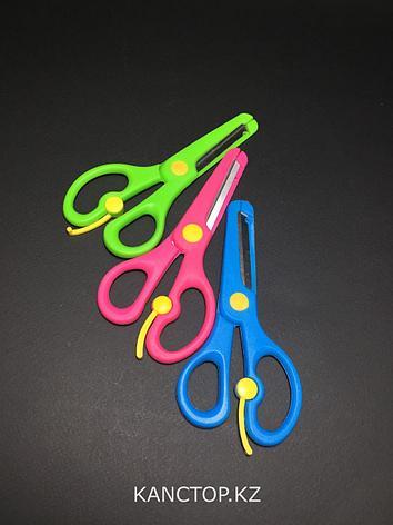 Ножницы детские безопасные Fujiayi с фиксатором, фото 2