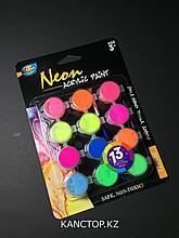Краски акриловые неоновые Artoys 12 цветов.