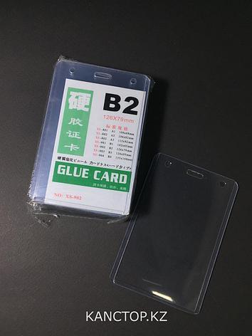 Бейджик B2 вертикальный пластиковый, фото 2