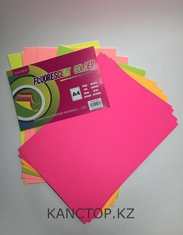 Бумага для принтера цветная флюоресцентная А4  Chiisen Specta colour,Ассорти 5 цветов, фото 2