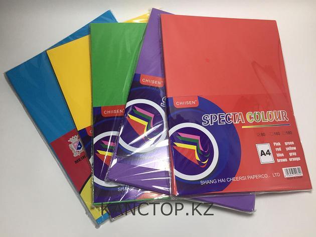 Бумага для принтера цветная обычнаяА4  Chiisen Specta colour, фото 2