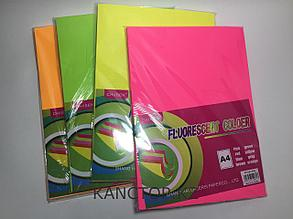 Бумага для принтера А4 цветная флюоресцентная Chiisen Specta colour.