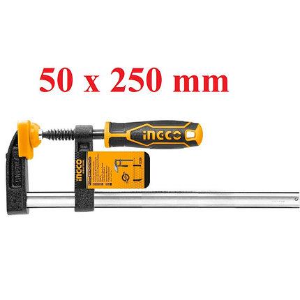 Струбцина, INGCO HFC020503 INDUSTRIAL, 50х250мм, фото 2